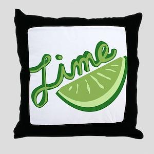 Cute Lime Slice Throw Pillow