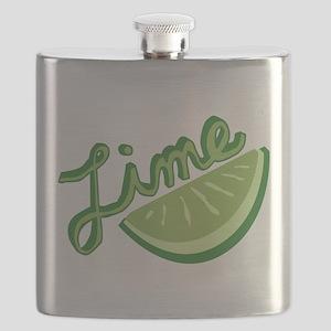 Cute Lime Slice Flask