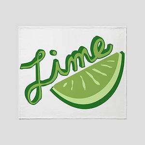 Cute Lime Slice Throw Blanket