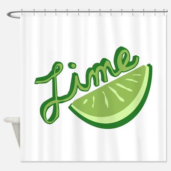 Cute Lime Slice Shower Curtain