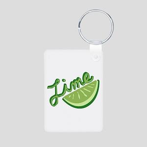 Cute Lime Slice Aluminum Photo Keychain