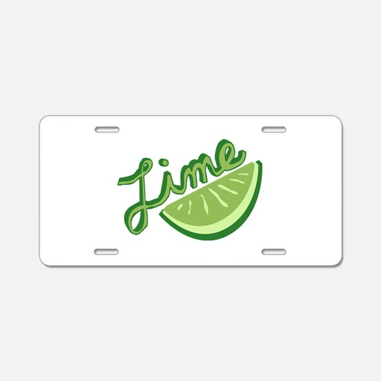 Cute Lime Slice Aluminum License Plate