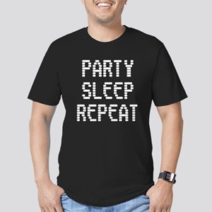 Party Sleep Repeat Men's Fitted T-Shirt (dark)