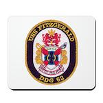 USS FITZGERALD Mousepad