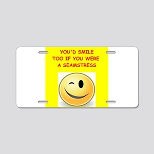 seamstress Aluminum License Plate