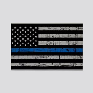 The thin blue line stressed flag Magnets