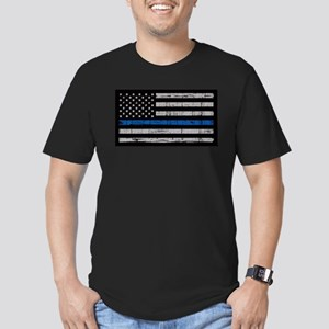 The thin blue line stressed flag T-Shirt
