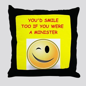 minister Throw Pillow