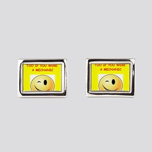 mechanic Rectangular Cufflinks