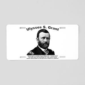 Grant: Peace Aluminum License Plate