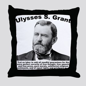 Grant: Freedom Throw Pillow