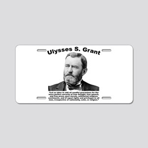 Grant: Freedom Aluminum License Plate