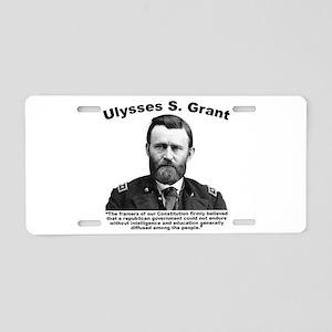 Grant: Education Aluminum License Plate