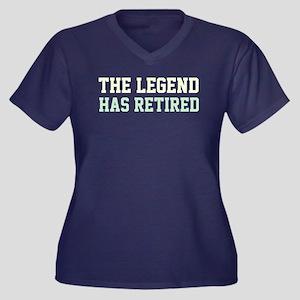 The Legend H Women's Plus Size V-Neck Dark T-Shirt