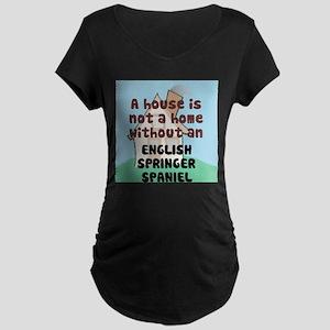 English Springer Home Maternity Dark T-Shirt