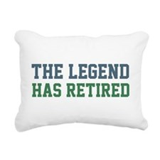 The Legend Has Retired Rectangular Canvas Pillow