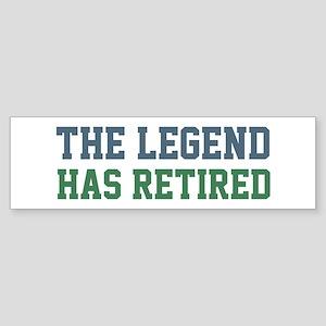 The Legend Has Retired Sticker (Bumper)