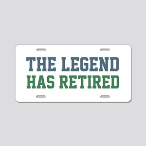 The Legend Has Retired Aluminum License Plate