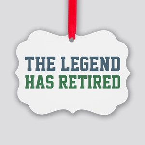 The Legend Has Retired Picture Ornament