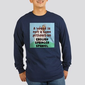 English Springer Home Long Sleeve Dark T-Shirt