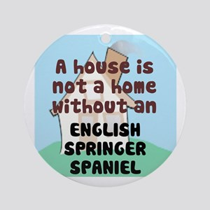 English Springer Home Ornament (Round)