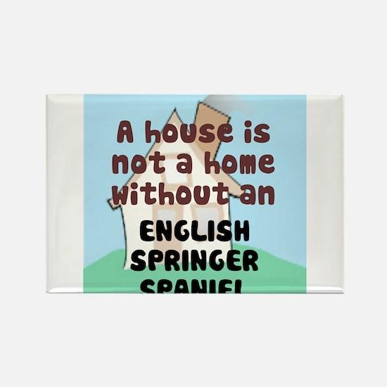English Springer Home Rectangle Magnet