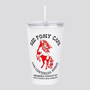 Red Pony Cafe Acrylic Double-Wall Tumbler