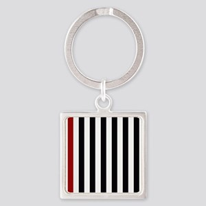 With A Red Stripe Keychains
