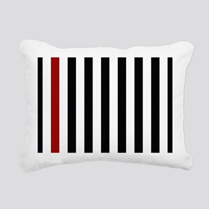 With A Red Stripe Rectangular Canvas Pillow