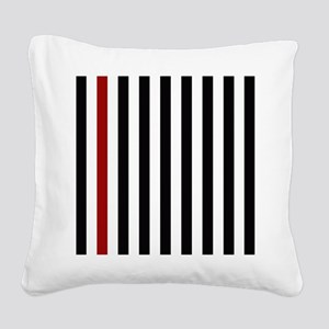 With A Red Stripe Square Canvas Pillow