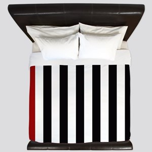 With A Red Stripe King Duvet