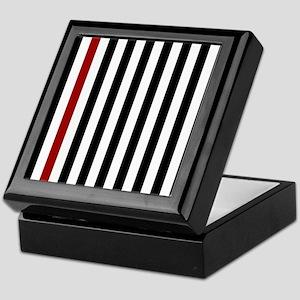 With A Red Stripe Keepsake Box