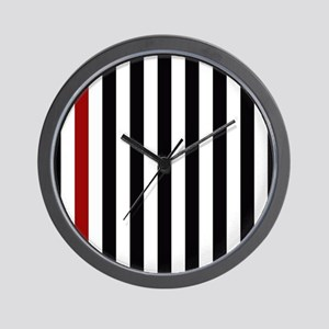 With A Red Stripe Wall Clock