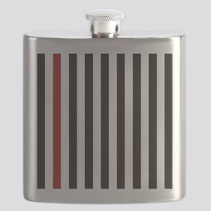 With A Red Stripe Flask