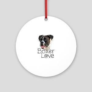 Boxer Love Ornament (Round)