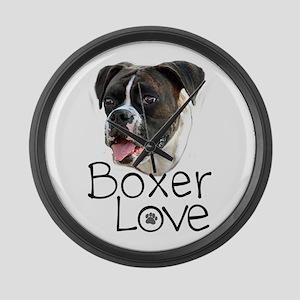 Boxer Love Large Wall Clock