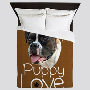 Boxer Puppy Love Queen Duvet