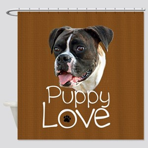 Boxer Puppy Love Shower Curtain
