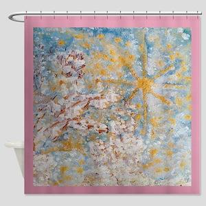 Winter's Snow Whimsical Designer Art Shower Curtai