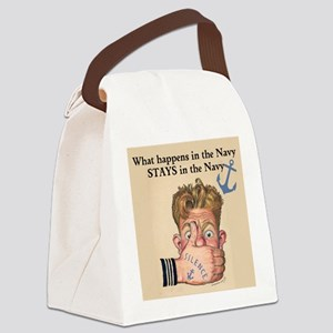 In the Navy Canvas Lunch Bag