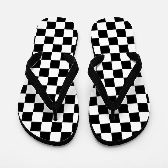 Checkered Flag Flip Flops