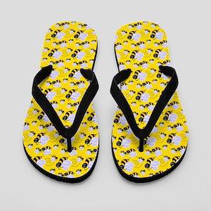 Bumble Bee Flip Flops