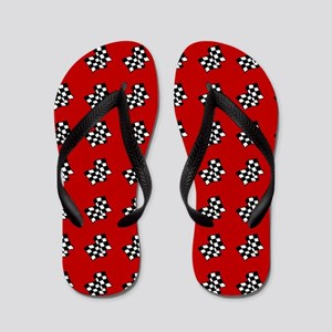 Checkered Flag Flip Flops