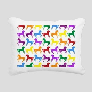 Horses Rectangular Canvas Pillow