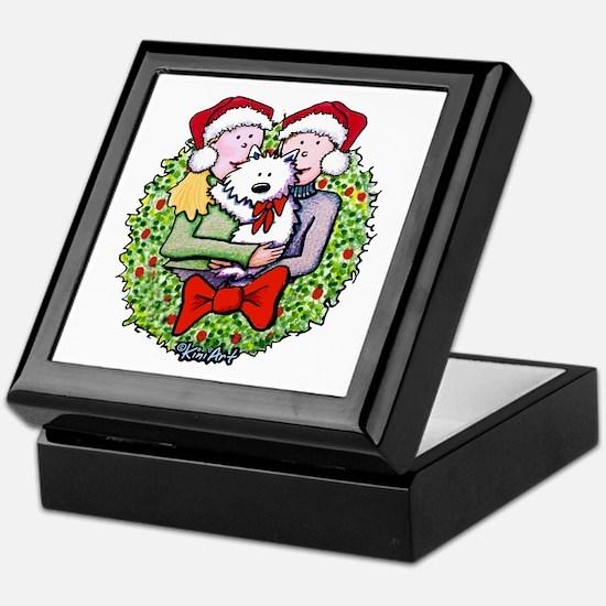 Westie Family Christmas Keepsake Box
