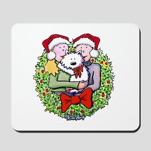 Westie Family Christmas Mousepad