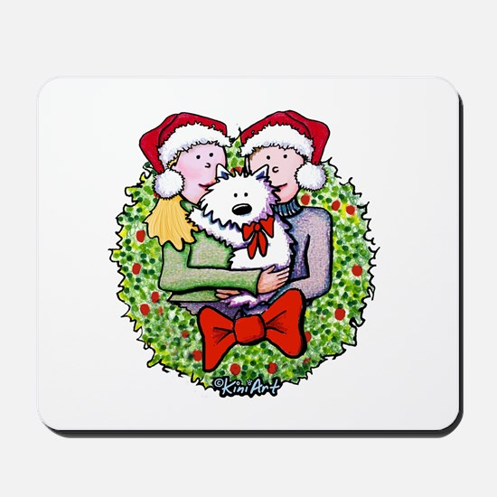 Westie Family Christmas Mousepad