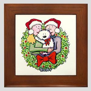 Westie Family Christmas Framed Tile