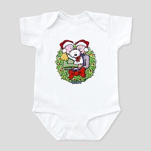 Westie Family Christmas Infant Creeper