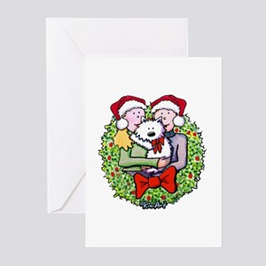 Westie Family Christmas Greeting Cards (Package of